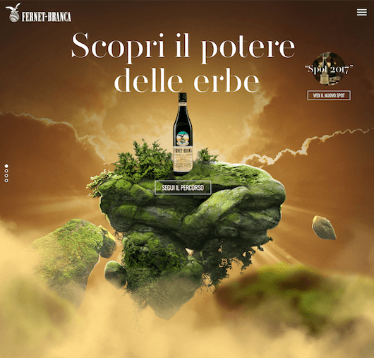 Fernet Branca: nuovo website