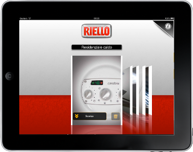 App by Riello developed with ContenTouch, for iPad