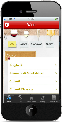 App Italian Wine by Gambero Rosso for iPhone and iPad